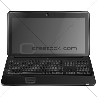 Black laptop eps10 vector illustration