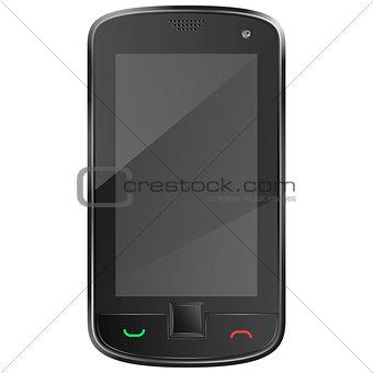 Black mobile phone eps10 vector illustration