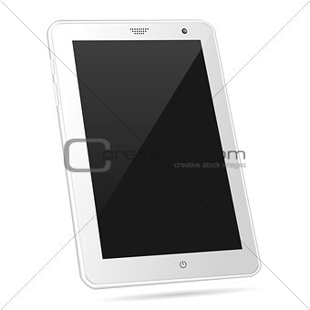 Tilted white tablet PC eps10 vector illustration