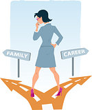Choosing between family and career