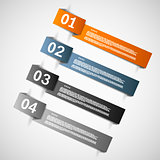 Color paper templates for progress or versions presentation eps1
