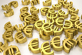 golden euro signs