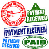 Payment received stamp set