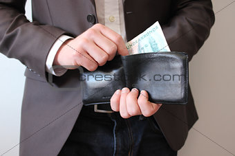 Business Man With Wallet