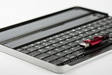 Keyboard with usb flash