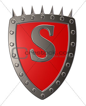 shield with letter s