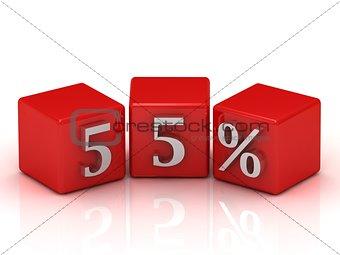 55 Percent