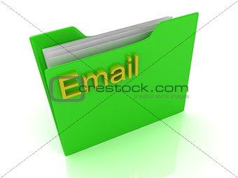 Green computer folder