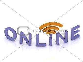 3D render, online signal