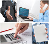 business theme photo collage