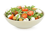 vegetable salad with feta cheese and olives