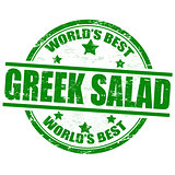 Greek salad stamp