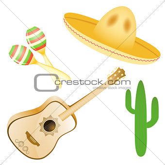 Vector set of various Mexican images