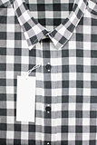 black andwhite color for men in checked pattern