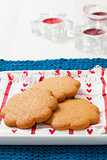 Gingerbread biscuits on plate