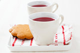 Christmas mulled wine and gingerbread biscuits
