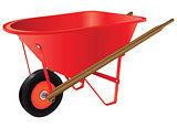 Wheelbarrow for industrial work