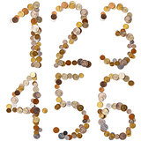 1-2-3-4-5-6 alphabet letters from the coins