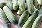 Whole Cucumbers Background