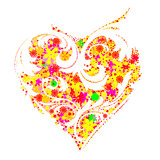 Beautiful floral heart shape