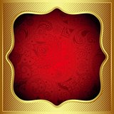 Abstract Gold Floral Frame Background