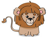 Young lion cub illustration