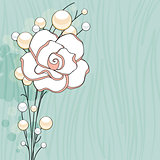 Rose and Pearls Background