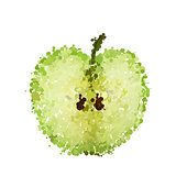 half green apple of blots