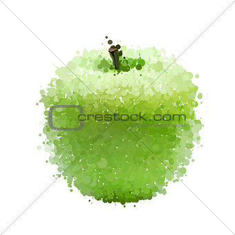 Green apple  of blots