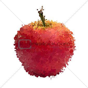Red apple  of blots