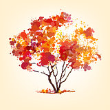 autumn vector tree of blots