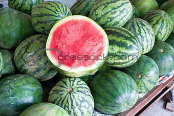 Watermelons at Fruit Stand