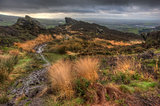 View from Ramshaw Rocks in Peak District National Park towards T