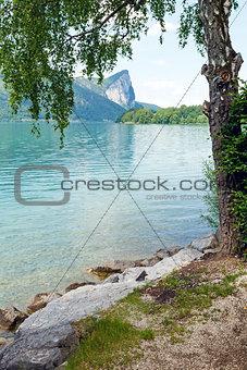 Mondsee  summer lake (Austria).