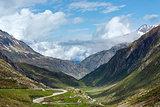 Summer Alps mountain pass