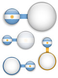 Vector - Argentina Country Set of Banners