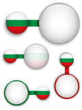 Vector - Bulgaria Country Set of Banners