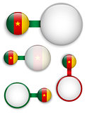 Vector - Cameroon Country Set of Banners