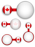 Vector - Canada Country Set of Banners