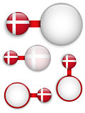 Vector - Denmark Country Set of Banners