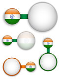 Vector - India Country Set of Banners