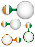 Vector - Ireland Country Set of Banners