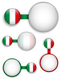 Vector - Italy Country Set of Banners