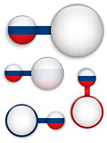 Vector - Russia Country Set of Banners