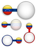 Vector - Venezuela Country Set of Banners