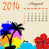 Calendar for 2014 August