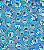 3d blue curly worm shape backdrop