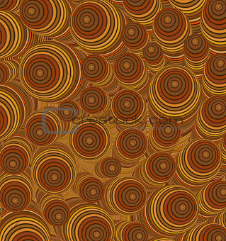 3d orange brown curly worm shape backdrop