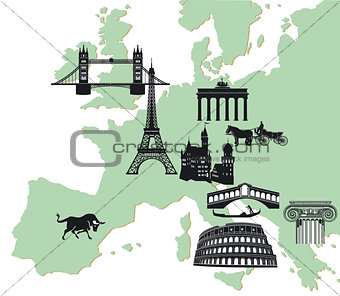 european travelling background
