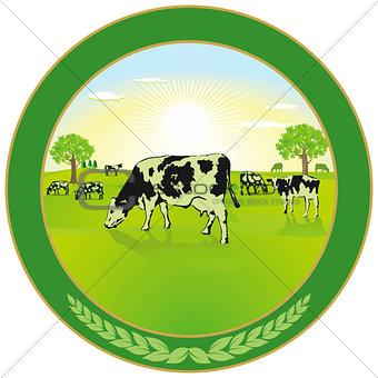 Dairy farming Label